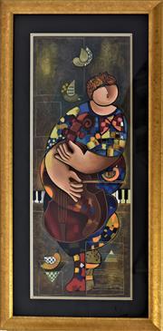 Sale 8778A - Lot 5010 - Dorit Levi - Tranquility 50.5 x 94.5cm