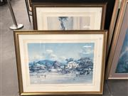 Sale 8789 - Lot 2078 - Two Decorative Prints after Darcy Doyle and Robert Hagan, 72 x 93cm (frame size each)
