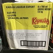 Sale 8801W - Lot 80 - 6x Kahlua Coffee Liqueur, 700ml