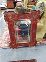 Sale 8822 - Lot 1133 - Gilded & Hand Painted Framed Mirror
