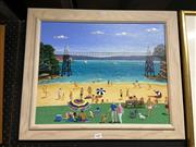 Sale 8878 - Lot 2081 - Parsley Bay by Angela Morris, oil on canvas, SLL, 1995