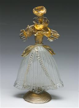 Sale 9153 - Lot 2 - A Murano glass lady figure (H: 26cm)