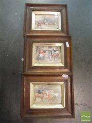 Sale 8429A - Lot 2024 - Set Of Three Framed Victorian Scene Pictures