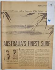Sale 8431B - Lot 71 - Article, Australia's Finest Surf, 4 pages in Pix Magazine June 13, 1964