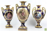 Sale 8599 - Lot 10 - Set Of Three Sevres Style Vases