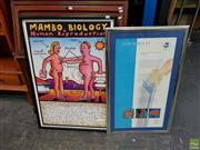 Sale 8619 - Lot 2004 - 2 Works: Mambo Print with a Sydney 2000 Olympic Torch Relay Print