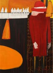 Sale 8633A - Lot 5040 - Sophie Scahill - Woman in Red, 2002 76 x 55cm (frame: 106 x 86cm)