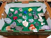 Sale 8760 - Lot 1086 - Box of Crystals and Minerals