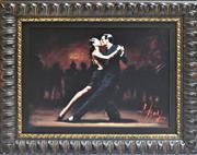 Sale 8778A - Lot 5011 - Fabian Perez - Tango in Paris in Black Suit 64 x 52cm (frame)