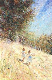 Sale 9047A - Lot 5038 - Dale Marsh (1940 - ) - The Grassy Slope, 1989 44.5 x 29.5 cm (frame: 62 x 47 x 3 cm)