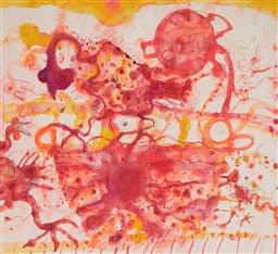 Sale 9133 - Lot 519 - John Olsen (1928 - ) Coq au vin, 2012 colour lithograph, ed. 19/40 52 x 57 cm (frame: 75 x 80 x 4 cm) signed and dated lower right