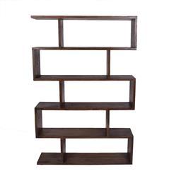 Sale 9134H - Lot 41 - A fruitwood geometric open bookcase. Height 186cm x Width 127cm x Depth 37cm