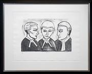 Sale 8415 - Lot 590 - Robert Dickerson (1905 - 2015) - Argument 32 x 48cm (frame size: 70 x 88cm)