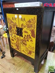 Sale 8455 - Lot 1037 - Oriental Cabinet w 2 Doors