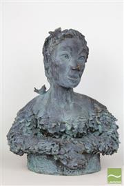 Sale 8481 - Lot 108 - Terracotta Sculpture of a Female bust