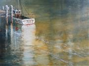 Sale 8704A - Lot 5058 - James Thomson (1937 - ) - Morning on the Gulf 90.5 x 121cm