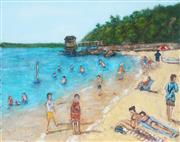 Sale 8764A - Lot 5004 - Stanley Perl (1942 - ) - A Day a the Beach III 40.5 x 50.5cm