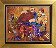 Sale 8778A - Lot 5012 - Dorit Levi - Birds Song 78.5 x 68.5cm