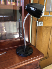 Sale 8795A - Lot 87 - A vintage planet lamp in mushroom, together with a small desktop example