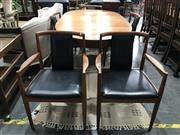 Sale 8787 - Lot 1035 - Vintage 6 Piece Dining Suite