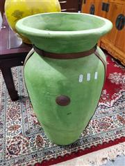 Sale 8889 - Lot 1010 - Large Green Vase