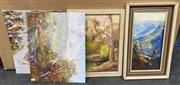 Sale 9011 - Lot 2063 - Group of (5) Original Blue Mountain and Country NSW Paintings by Michael Searle, various sizes