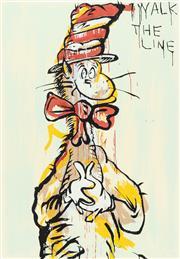 Sale 9070H - Lot 12 - Adam Cullen (1965-2012) - I walk the line 80 x 55cm