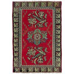 Sale 9090C - Lot 45 - Turkish Vintage Rose Kilim Carpet, 292x200 Cm, Handspun Wool