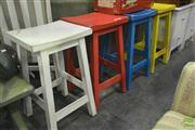 Sale 8284 - Lot 1057 - Set of Four Various Painted Stools