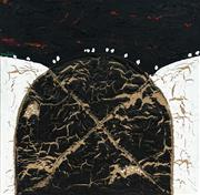 Sale 8467 - Lot 556 - Elwyn Lynn (1917 - 1997) - Charred Mound, 1987 122 x 122cm