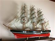 Sale 8730B - Lot 8 - Timber Model of a Ship L: 87cm