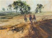 Sale 8755 - Lot 589 - John Tiplady (1938 - ) - The Hunting Three, 1978 40 x 49cm