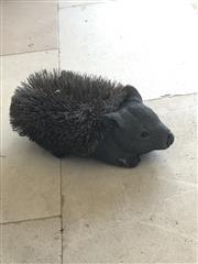 Sale 8782A - Lot 9 - A wombat boot scraper brush. Length 37cm