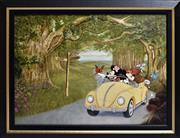 Sale 8778A - Lot 5013 - Mike Kupta - A Magical Journey 75 x 57cm (frame)