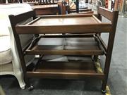 Sale 8787 - Lot 1027 - Teak Tea Trolley
