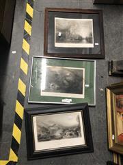 Sale 8784 - Lot 2085 - 3 Engravings
