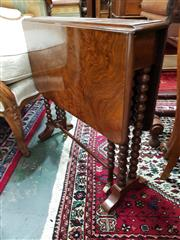 Sale 8831 - Lot 1079 - Bur Walnut Drop Side Sofa Table