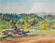 Sale 8972A - Lot 5012 - George Crossley (1919 - 1973) - Landscape, North East Victoria 41 x 53 cm