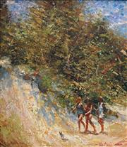 Sale 9047A - Lot 5037 - Dale Marsh (1940 - ) - The Beach Road, 1988 34.5 x 29.5 cm (frame: 51 x 46 x 3 cm)