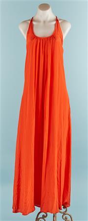 Sale 9090F - Lot 7 - A DECJUBA MAXI DRESS in coral size S/M