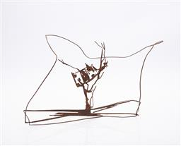 Sale 9191H - Lot 59 - JOHN KELLY (1965 - ) Cow up a Tree rusted laser cut mild steel, edition unknown H 24 cm .