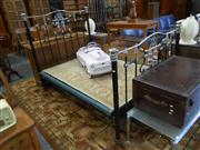 Sale 7943A - Lot 1514 - Early 20th Century Iron & Chromed Double Bed