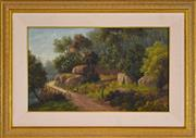 Sale 8325 - Lot 572 - Valentine (Val) Delawarr (active 1880s - 1900) - Figures on Country Road 29.5 x 49cm