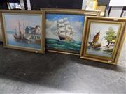 Sale 8417T - Lot 2056 - Artists Unknown (XX) (3 works) - Ships 32 x 41cm; 26 x 20cm; 31 x 41cm