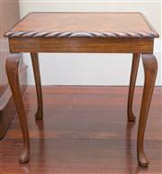 Sale 8470H - Lot 44 - A rectangular walnut occasional table in Queen Anne style on cabriole legs, H 45cm