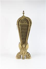 Sale 8747 - Lot 60 - Brass Peacock Fire Screen (H:62cm) L:96cm