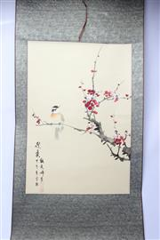Sale 8748 - Lot 84 - Bird Themed Chinese Scroll