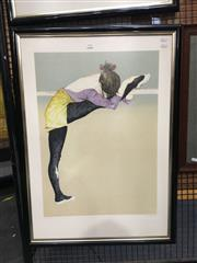 Sale 8754 - Lot 2015 - Donald Hamilton-Fraser, Dancer Resting, frame size: 91 x 66cm, screenprint
