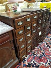 Sale 8826 - Lot 1090 - Pair of Oak Card File Drawers