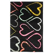 Sale 8870C - Lot 56 - Nepal Multi Colour Hearts Design Rug in Tibetan Highland Wool & Chinese Silk, 224x145cm
